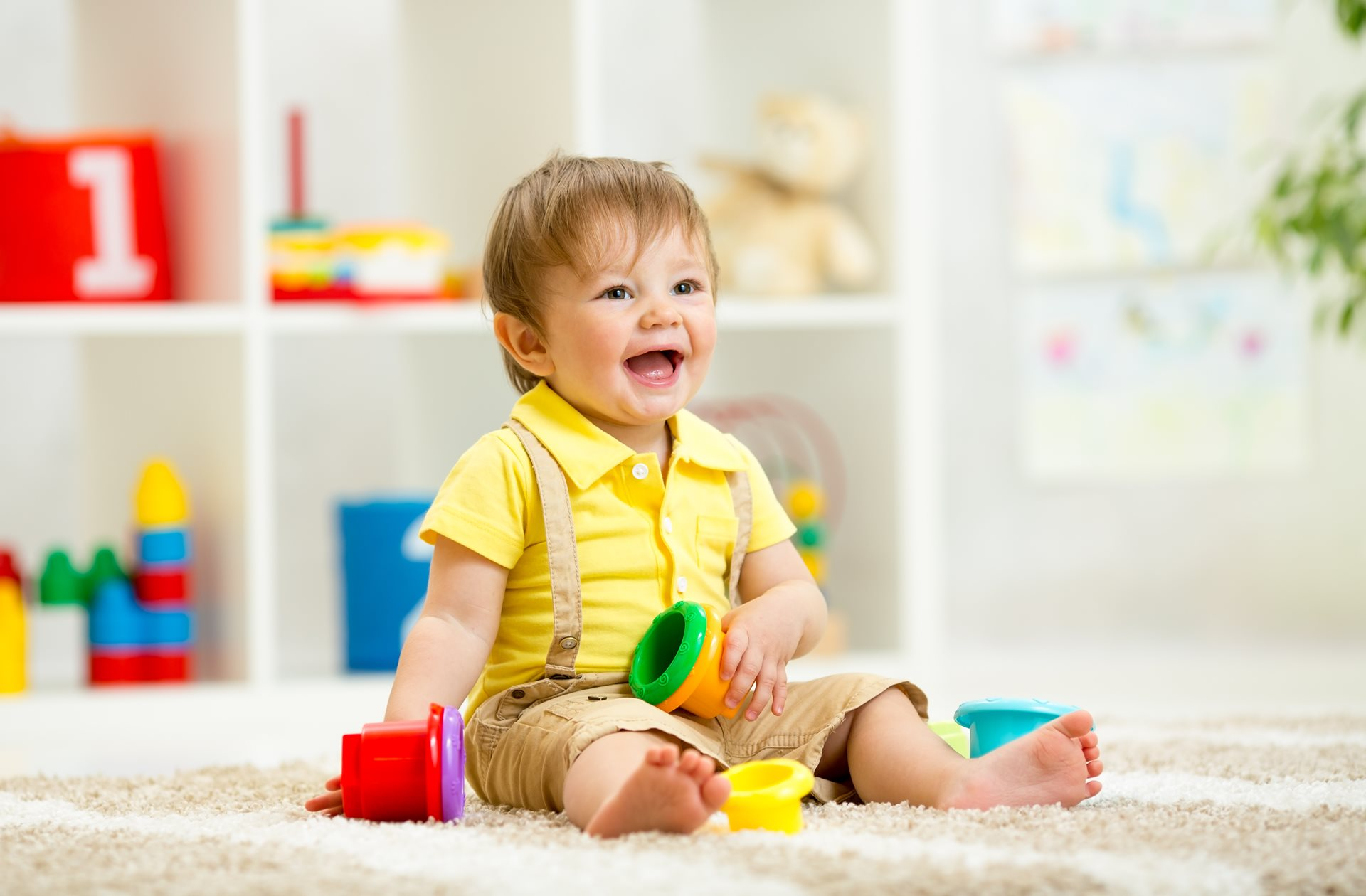 Infant baby sitting learning in early childhood education childcare centre