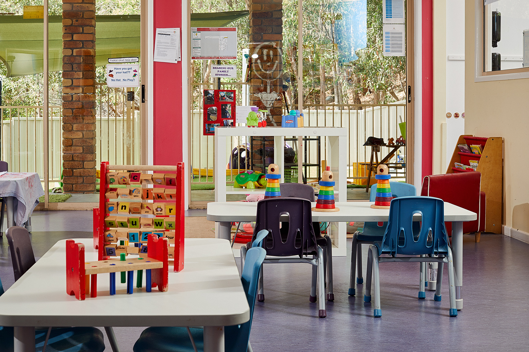 Child care classroom at Milestones Worongary